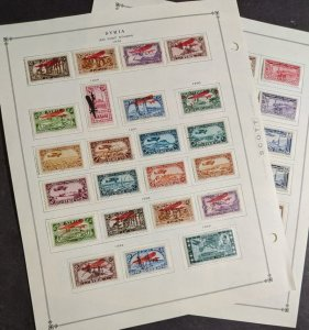 EDW1949SELL : SYRIA Nice mostly Mint Original Gum Hinged collection of Air Mails
