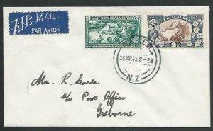 NEW ZEALAND 1945 first flight cover Napier to Gisborne.....................56770