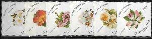 Nicaragua 1494-99 Flowers Mint NH
