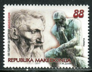 253 - MACEDONIA 2017 - AUGUSTE RODIN - French Sculptor - MNH Set