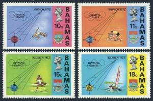 Bahamas 335-338,338a,MNH.Michel 340-343,Bl.5. Olympics Munich-1972.Sailing,Jump,