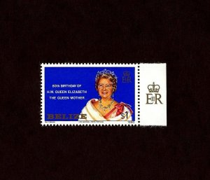 BELIZE - 1980 - QUEEN MOTHER - 80th BIRTHDAY - MINT - MNH SINGLE!