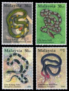 Malaysia 2002 Scott #865-868 Mint Never Hinged