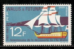 Wallis and Futuna Islands C29 1967 200th Discovery single MNH