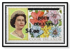 Cook Islands #290 Flowers Surcharged MNH