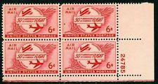 SCOTT # C47 AIR MAIL PLATE BLOCK MINT NEVER HINGED GEMS !!