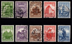 Denmark 1953-56 1,000 Years of Danish Kingdom, Both Sets [Used]
