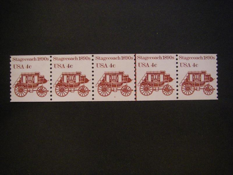 Scott 1898A, 4 cent Stagecoach, PNC5 #6, MNH Transportation Beauty