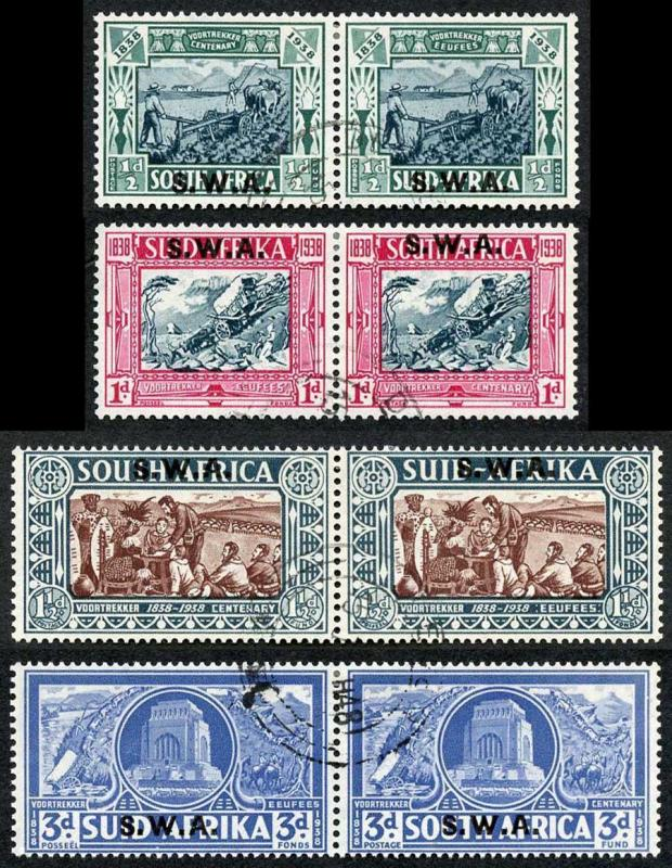 South West Africa SG105/8 Voortrekker Centenary set of 4  Fine used