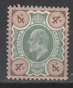 GREAT BRITAIN 1902 KEVII 4D