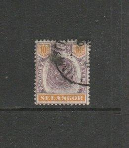 Malaya Selangor 1895/9 Tiger 10c used SG 57