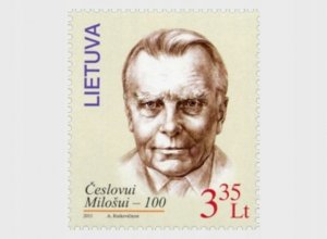 Lithuania 2011 MNH Stamps Scott 943 Literature Writer Nobel Prize Milosz Poetry