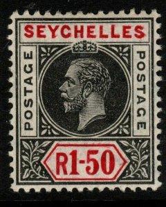 SEYCHELLES SG80 1913 1r50 BLACK & CARMINE MTD MINT