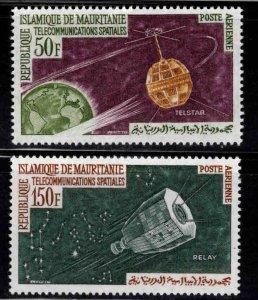 Mauritania Scott C23-C24 MH* Satellite Aimail set