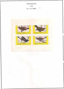 SCOTLAND - BERNERA - 1982 - Birds (26) - 4v Imperf Sheet - MLH