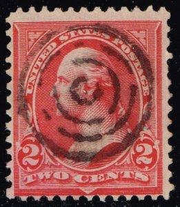 US #267 George Washington; Fancy Well Struck Bullseye (2Stars)