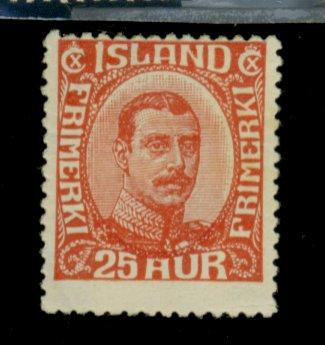 Iceland #121 MINT FIne OG HR Cat$19