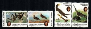 Marshall Islands MNH 63-4 C1-2 Birds Audubon 1985