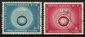 United Nations, New York 1957 Scott# 51-52 or 53-54 Used