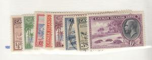 CAYMAN ISLANDS # 85-92 VF-MINT AND USED KGV ISSUES CAT VALUE $30+