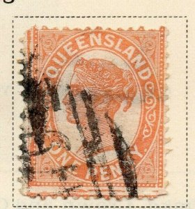 Queensland 1895 Early Issue Fine Used 1d. 326840