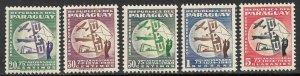 PARAGUAY 1950 UPU AIRMAIL Set Sc C179-C183 MLH