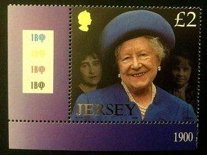 Jersey: 2002 HM Queen Elizabeth the Queen Mother Commemoration, MNH