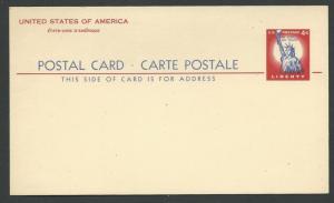 USA # UY16  Postal Card - 4c International Rate  +4c Reply  (1) Mint NH