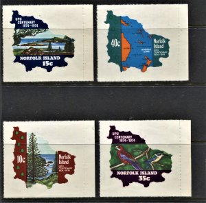STAMP STATION PERTH Norfolk Island #181-184 Peelable Paper Set MNH-CV$3.00