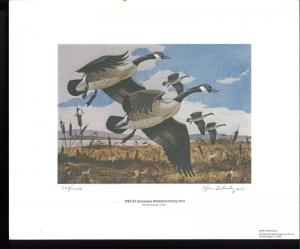TENNESSEE #4 1982 DUCK STAMP PRINT CANADA GEESE by Ken Schulz