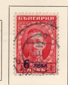 Bulgaria 1924 Early Issue Fine Used 6L. Surcharged 231893
