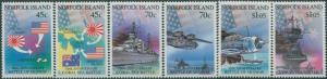 Norfolk Island 1992 SG528-533 WWII Coral Sea Midway set MNH