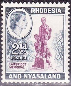 RHODESIA & NYASALAND 1959 2.5d Purple & Grey-Blue SG21 MH