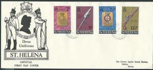 ST HELENA 1972 Dress  Uniforms FDC.........................................43983