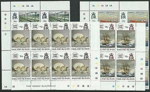 FALKLAND IS 1988 Llloyds set in plate blocks of 8 MNH......................39999