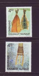 Greenland Sc 384-5 2001 Cultural Heritage stamp set mint NH