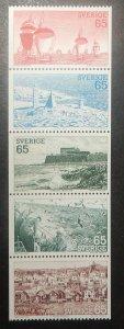 Sweden 1087-91. 1974 West Coast Scenes, NH