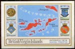 British Virgin Islands 1974  SC# 266-9a S/S MNH L189