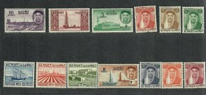 Kuwait Sc#140-152 M/H/VF, Cv. $45.30