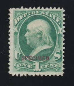 US O57S 1c State Department Official Specimen F-VF NGAI  SCV $32.50