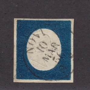 Sardinia Scott # 8 XF used neat cancel with nice color cv $ 210 ! see pic !