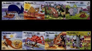 Gambia 1102-9 MNH Disney, Whale, Intl. Litteracy Year, Rudyard Kipling
