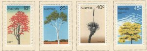 AUSTRALIA Scott 677-680 MH* Tree stamp set