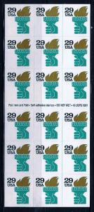PCBstamps  US #2531Ab ATM Pane $5.22(18x29c)Liberty Torch, MNH