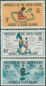 Gilbert & Ellice Islands 1969 SG154-156 South Pacific University set MNH