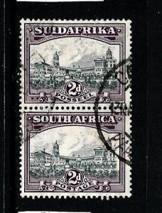 SOUTH AFRICA 1927-30  2d  PICTORIAL PAIR FU  SG34