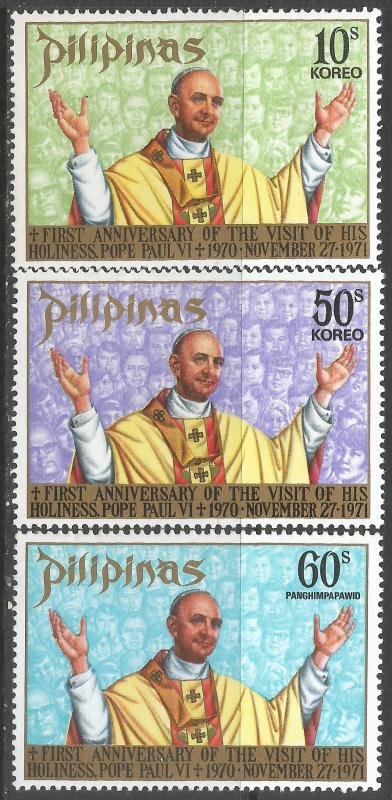 PHILIPPINES 1144-45 C106 MNH POPE Z4138-12