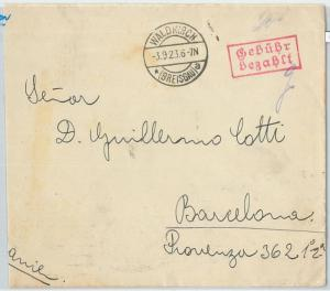 66741 - GERMANY Reich - Postal History -  COVER  to SPAIN  1923 - INFLATION