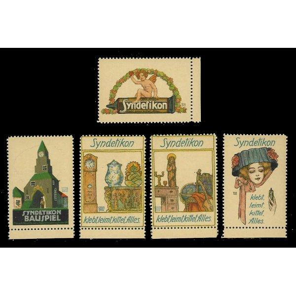 Germany - Syndetikon Glue Advertising Poster Stamps