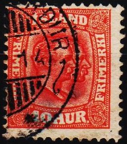 Iceland. 1907 10a S.G.114 Fine Used